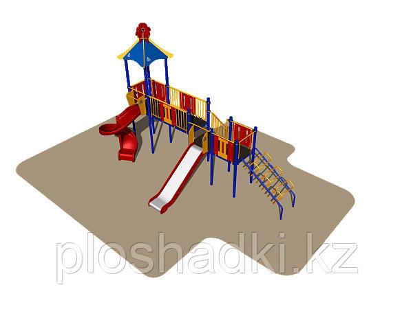 Игровой комплекс Romana, горка, лестница, домик с крышей