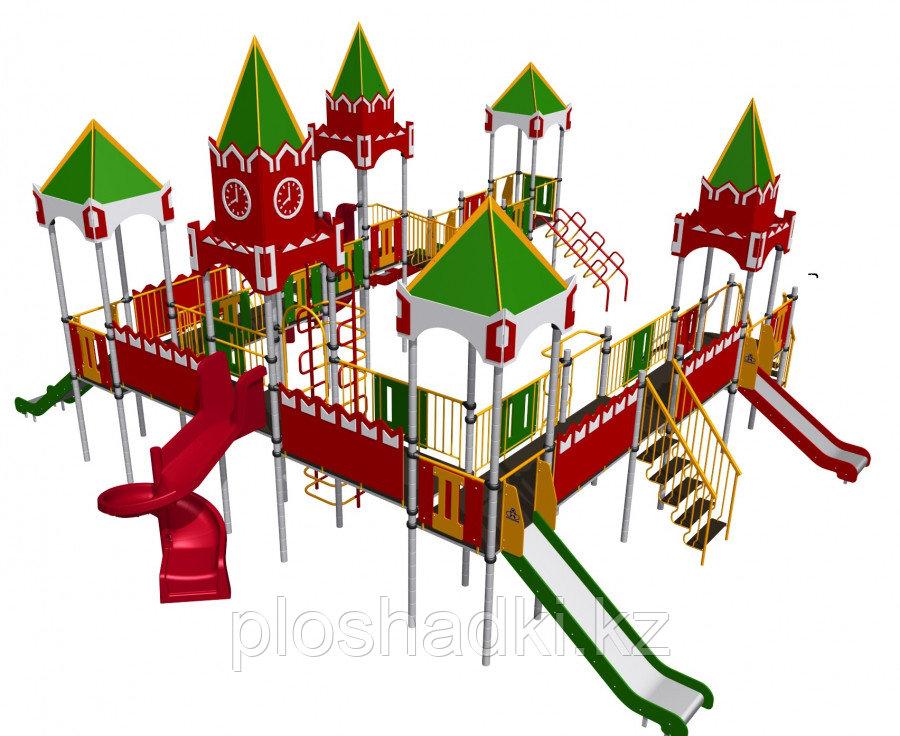 Игровой комплекс Romana,  с горками, лестницами, игровыми башнями