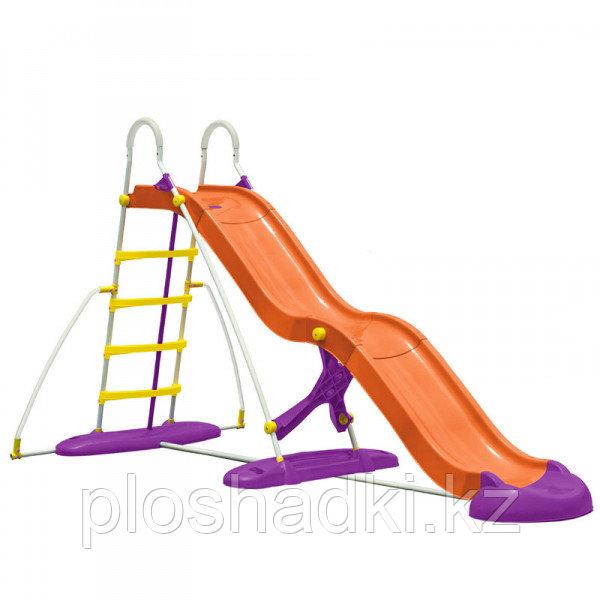 """Детская пластиковая горка """"Великан"""", с лестницей из высокопрочного пластика"""