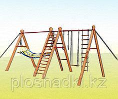 Уличный спортивный комплекс Kampfer Sunny Day, кольца, верёвочная лестница, качели, гамак