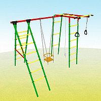 Уличный детский спортивный комплекс Kampfer Happy Child, рукоход, канат, лестница, турник, качели