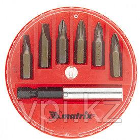 Набор бит с магнитным  адаптером, 7пр., Matrix