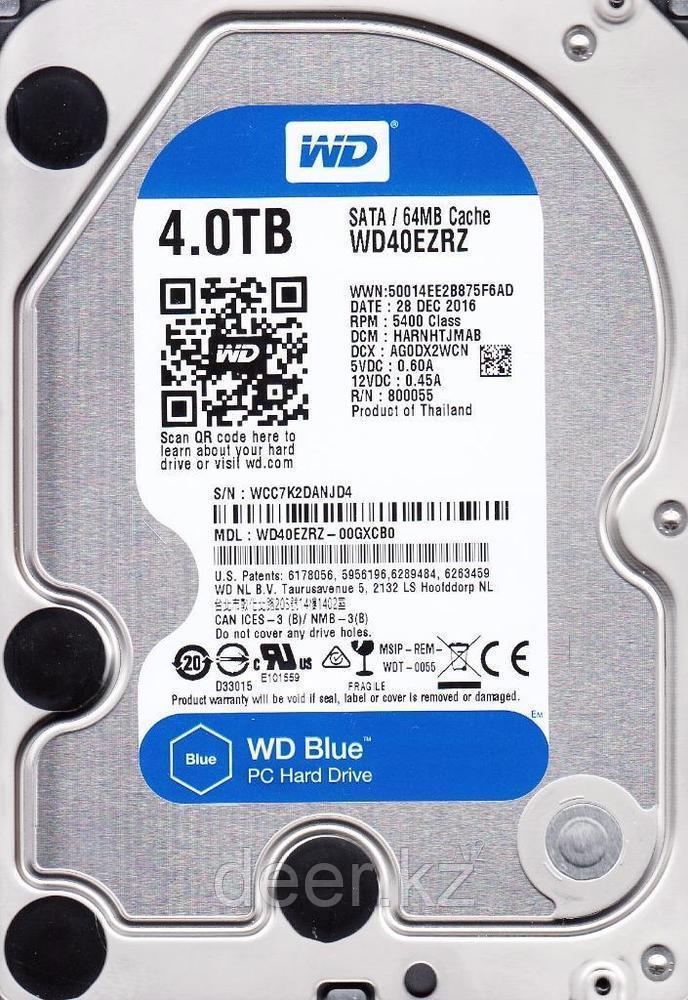 "Жёсткий диск WD Blue™ WD40EZRZ 4ТБ 3,5"" 5400RPM 64МB (SATA-III)"