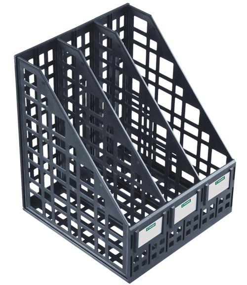 Лоток вертикальный СТАММ, 3 отделения, черный