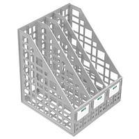 Лоток вертикальный СТАММ, 4 отделения, серый