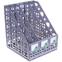 Лоток вертикальный СТАММ, 5 отделений, серый