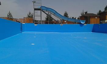 Наши работы по облицовке  бетонных и металлических чаш бассейнов ПВХ лайнером 26