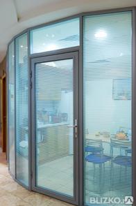 Двери алюминиевые офисные двойной витраж с доставкой и установкой, фото 2