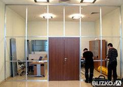 Монтаж перегородок в офисах и торговых помещениях