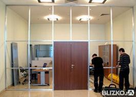 Монтаж перегородок в офисах и торговых помещениях, фото 2