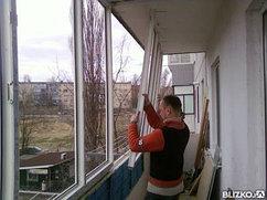 Установка балконов, оконных блоков, работа под ключ