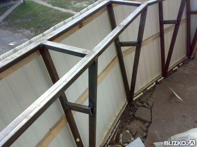 Монтаж балконов и лоджий, проектирование и изготовление металлоконструкций, фото 2