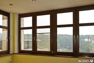 Балкон лоджия окна с ламинацией под дерево, фото 2