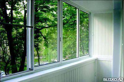 Остекление балконов раздвижные окна под ключ