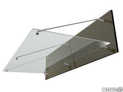Козырьки из закаленного стекла: производство, доставка, монтаж, фото 2