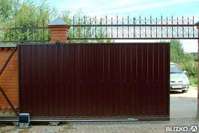 Ворота раздвижные с автоматическим приводом