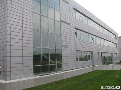 Фасад из керамогранита с установкой конструкций, фото 2