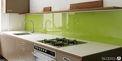Кухонный фартук из стекла, производство, доставка, монтаж