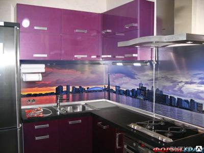 Кухонные фартуки стеклянные с изображением