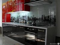 Кухонные фартуки из стекла с установкой