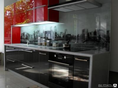 Кухонные фартуки из стекла с установкой, фото 2