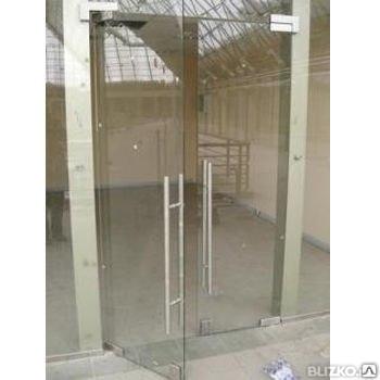 Стеклянные двери  с доставкой и установкой, фото 2