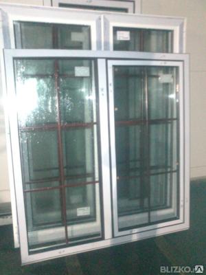 Окна двухстворчатые алюминиевый профиль под ключ, фото 2