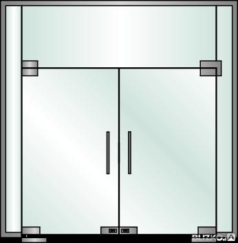 Перегородка цельностеклянная интерьерная, фото 2
