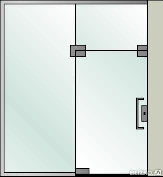 Точечное крепление стекол стеклянные перегородки под ключ, фото 2