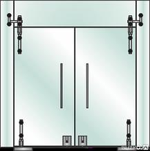 Point интерьерная система стеклянных перегородок Free style technology