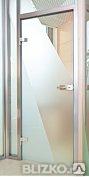 Стеклянные (цельностеклянные) двери доставка установка