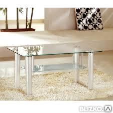Стеклянный стол журнальный классический, фото 2