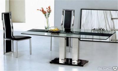 Стеклянный обеденный стол по вашему проекту, изготовим, доставим, фото 2