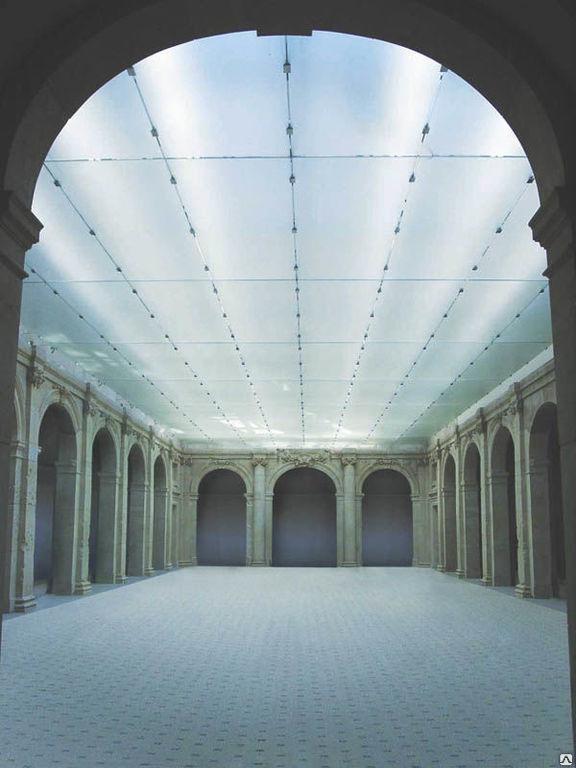 Потолок навесной стеклянный glasmarte GM KUB