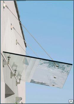 Стеклянный козырек фурнитура GM OVERHEAD, фото 2