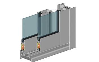 Алюминиевый балкон с системой профилей Alutech