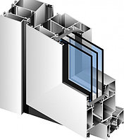 Алюминиевый балкон купе теплый профиль