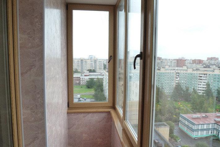 Балкон лоджия, окна с ламинацией под дерево, доставка и монтаж, фото 2