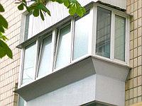 Балкон с выносом профиль ПВХ Deceunink пять камер, под ключ
