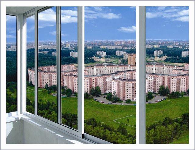 Балконы алюминий, холодный профиль Алютех