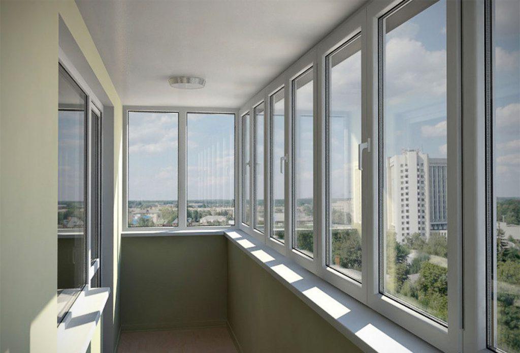 Балконы ПВХ трехкамерный экологичный профиль под ключ