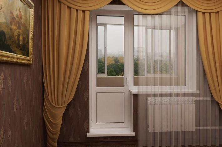 Дверь с импостом комбинированная, фото 2