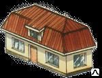 Мансардная вальмовая крыша