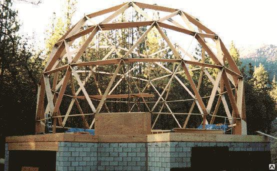 Круглая  односкатная крыша