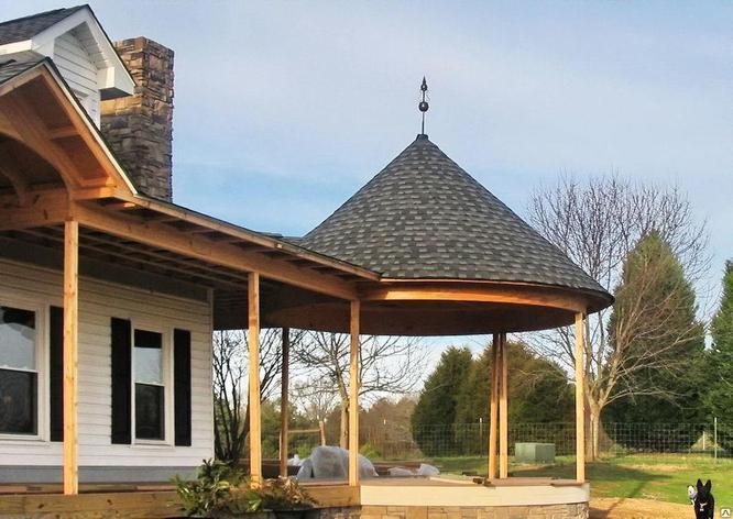 Коническая  крыша, фото 2