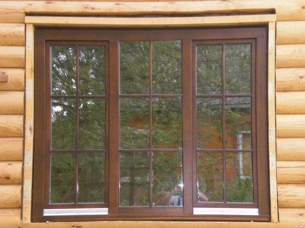ПВХ окна  с фальшпереплетом, фото 2
