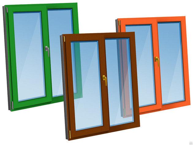 ПВХ окна  цветные, фото 2