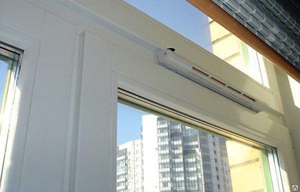 ПВХ окна  с вентиляцией, фото 2