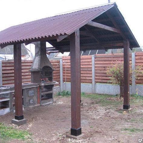 Навес для мангала  из дерева, фото 2