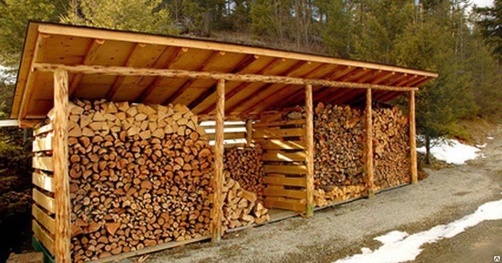 Навес для дров
